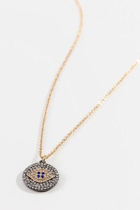 francesca's Judith Evil Eye Necklace - Hematite