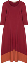Isolde Roth Plus Size Cotton blend colour block dress