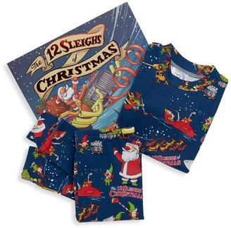 Books To Bed Little Kid's The 12 Sleighs of Christmas Book and Pajama Set