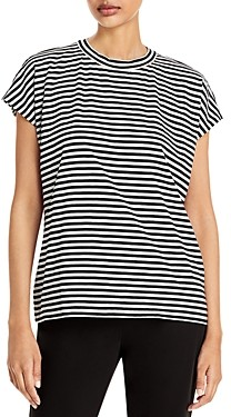 Eileen Fisher Cotton Striped Tee