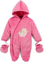 Sweet & Soft Pink Teddy Cradle Snowsuit - Infant