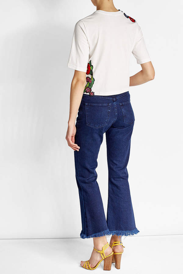 3.1 Phillip Lim Embroidered Cotton T-Shirt