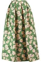Rochas Printed Cotton Midi Skirt