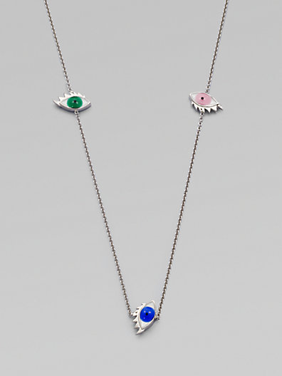 Delfina Delettrez Colorful Eye Station Necklace