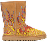Jeremy Scott UGG x crystal flame ankle boots