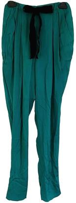 Vionnet Green Silk Trousers
