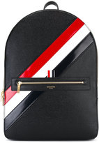 Thom Browne diagonal stripe backpack - men - Calf Leather - One Size