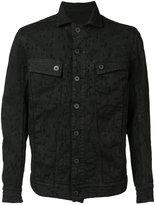 11 By Boris Bidjan Saberi embroidered detail denim jacket - men - Cotton/Spandex/Elastane - L