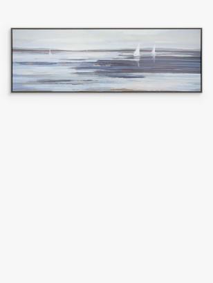 Ulyana Hammond - Seamless Shore Framed Canvas, 37 x 107cm, Blue