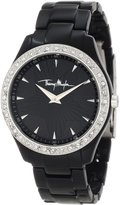 Thierry Mugler Women's White Crystal Textured Dial Polycarbonate