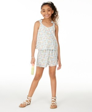 Epic Threads Big Girls Ditsy Floral-Print Romper, Created for Macy's