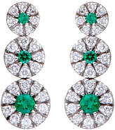 Damiani 18K 0.71 Ct. Tw. Diamond & Emerald Earrings