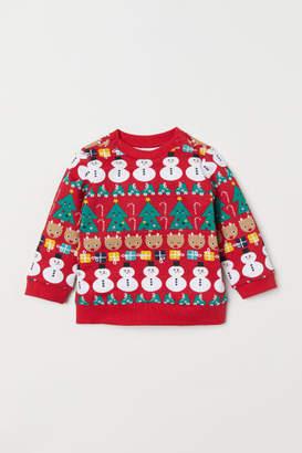 H&M Jersey Sweatshirt - Red