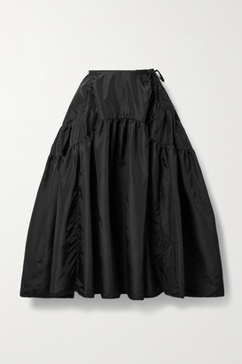 Cecilie Bahnsen Lilly Gathered Shell Midi Skirt - Black
