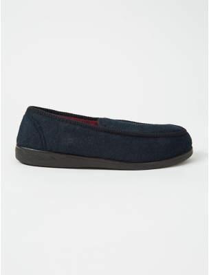 George Navy Felt Style Apron Slippers