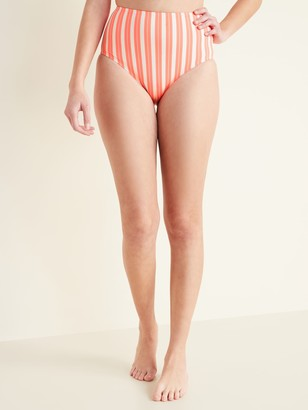 Old Navy High-Waisted Striped Swim Bottoms for Women