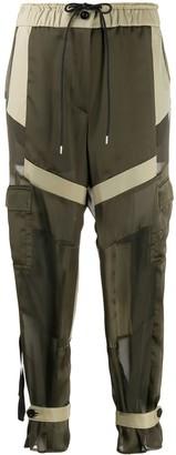 Sacai Panel Drawstring Waist Trousers