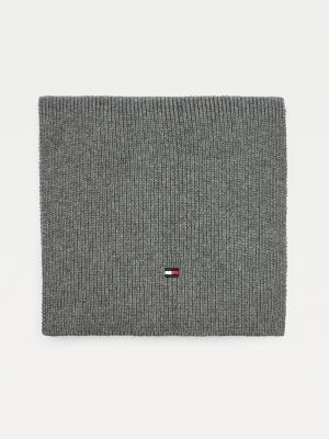 Tommy Hilfiger Kids' Organic Cotton Ribbed Scarf