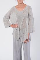 BK Moda Silver Knit Sweater