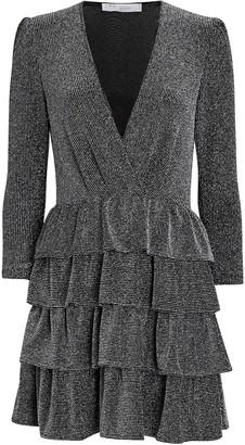 IRO Revert Ruffled Lurex Mini Dress