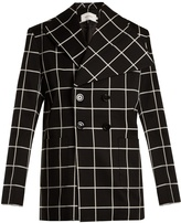 Marques Almeida MARQUES'ALMEIDA Checked double-breasted cotton-blend blazer