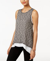 Bar III Marled Contrast Top, Only at Macy's