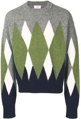 Ami Paris Argyle pattern sweater