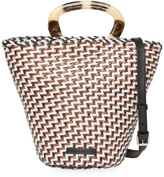 Loeffler Randall Agnes Woven Leather Fan Tote