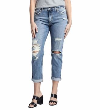 Silver Jeans Co. Women's Plus Size Not Your Boyfriend's Mid Rise Jeans