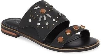Kelsi Dagger Brooklyn Raven Embellished Slide Sandal