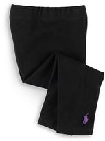 Ralph Lauren Girls' Stretch Cotton Leggings - Sizes 2-6X