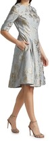 Thumbnail for your product : Teri Jon by Rickie Freeman Jacquard Midi Dress