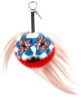 Fendi Blossy Bag Bugs Charm for Handbag, Strawberry Red/Blue