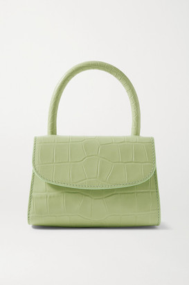 BY FAR Croc-effect Leather Tote - Mint