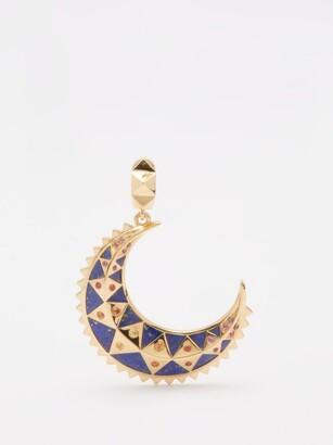 Harwell Godfrey Moon Sapphire, Lapis Lazuli & 18kt Gold Charm - Blue Gold