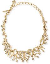 Oscar de la Renta Golden Seaweed Crystal Necklace