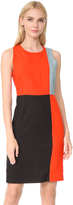 Diane von Furstenberg Sleeveless Paneled Tailored Dress