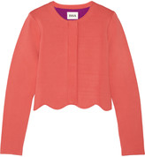 Issa Millie scalloped stretch-knit jacket