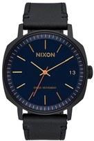 Nixon 'The Regent' Leather Strap Watch, 42mm