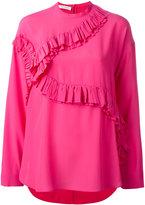 Cédric Charlier ruffled trim blouse