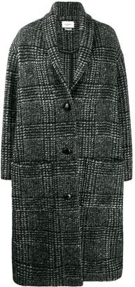 Etoile Isabel Marant Button Up Check Pattern Coat