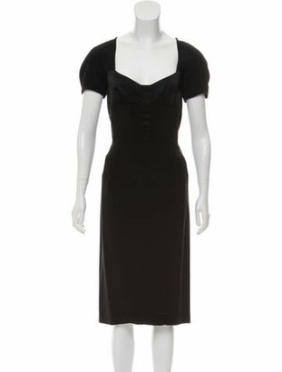Narciso Rodriguez 2013 Satin Dress Black