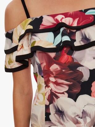 Gina Bacconi Amber Floral Print Scuba Dress, Multi