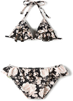 Tori Praver Swimwear Keiki Hula Bikini Set in Black. - size L (also in M,S)