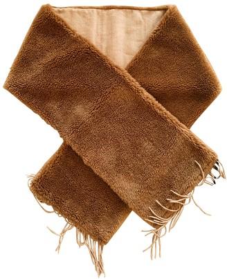 Max Mara Camel Shearling Scarves