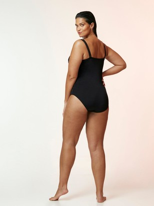 Evans Wired Plunge Swimsuit - Black