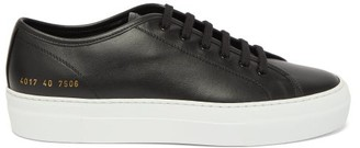 Common Projects Tournament Flatform Leather Trainers - Black White