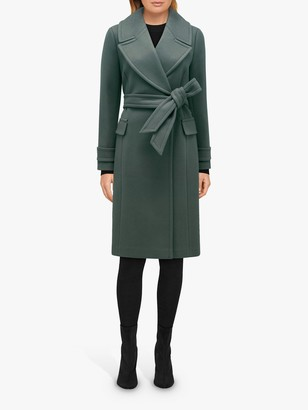 Forever New Stella Long Wrap Coat, Teal