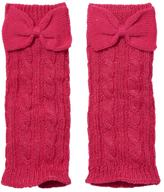Cuddl Duds Girls 4-16 Sparkle Cable Leg Warmers