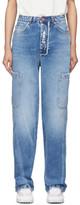 Heron Preston Blue Baggy 5Pockets Jeans